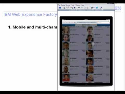 Jonathan Booth, Lead Architect's favorite features in Web Experience Factory 7.0.1