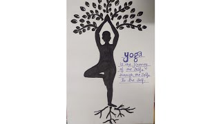 yoga drawing easy pencil meditation very marker