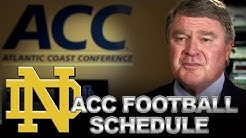 ACC & Notre Dame Announce 2014-16 Opponents | ACCDigitalNetwork