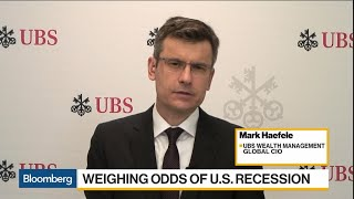 UBS Global CIO Sees 25% Chance of U.S. Recession