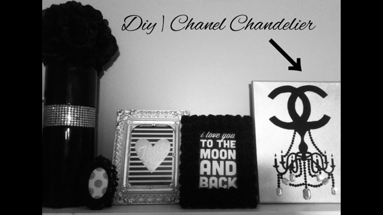 diy tumblr room decor | chanel chandelier canvas (pinterest