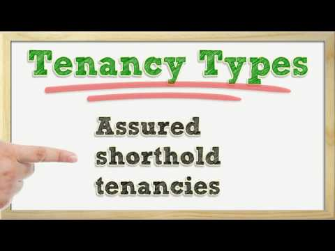 Types of tenancy agreement.