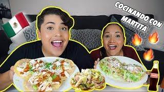 COCINANDO CON MARTITA: Tostadas De Pollo + MUKBANG! Recetas Mexicanas!!  (eating & cooking show)
