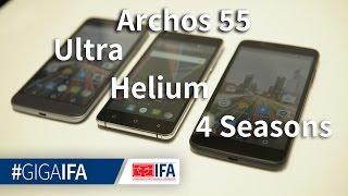 archos 55 Helium, Ultra, 4Seasons und 50f Helium im Hands-On - IFA 2016 - GIGA.DE