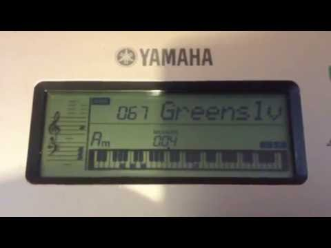 yamaha ypt 255 greensleeves youtube. Black Bedroom Furniture Sets. Home Design Ideas