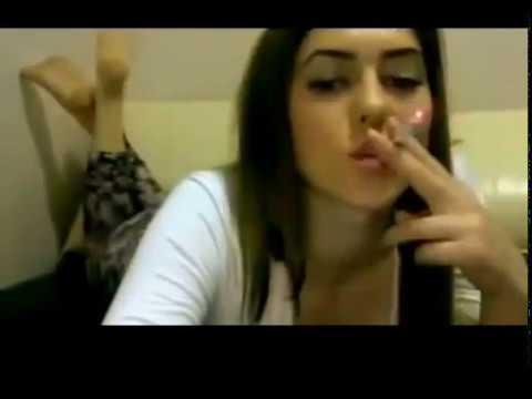 Sexy smoking snap inhaling girl