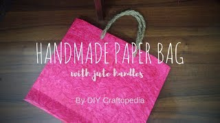 How to make a Handmade Paper Bag | Textured Paper Origami