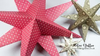 6th Day of Christmas 2018 | Paper Star Ornaments | HUGE & Tiny Ones