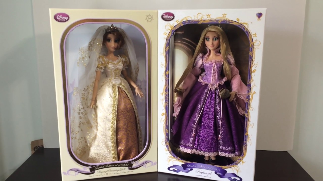 limited edition purple rapunzel doll review tangled disney store youtube. Black Bedroom Furniture Sets. Home Design Ideas
