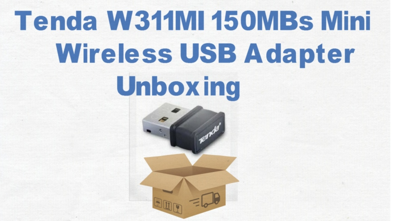 Tenda W311mi 150mbs Mini Wireless Usb Adapter Unboxing Youtube