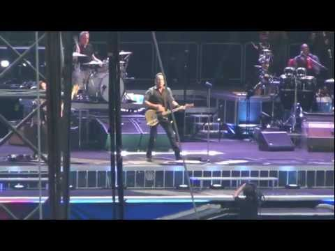 Bruce Springsteen We Take Care of Our Own/Entrance and Backstage Filming San Siro 7th June 2012