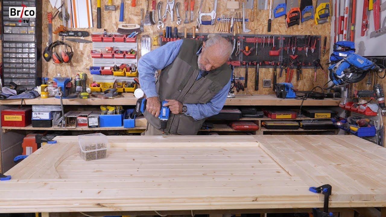 Fabriquer une porte en bois massif tuto brico avec - Comment reboucher une porte ...