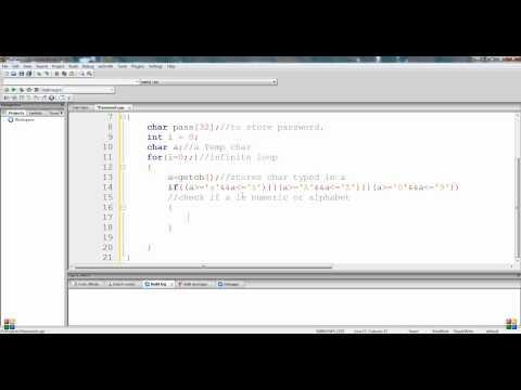 C++ How to Input Password in Hidden Form
