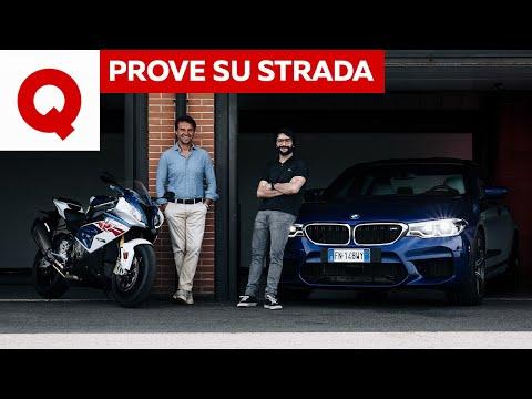 Nuova BMW M5 vs BMW S 1000 RR: più adrenalina in auto o in moto? | Quattroruote