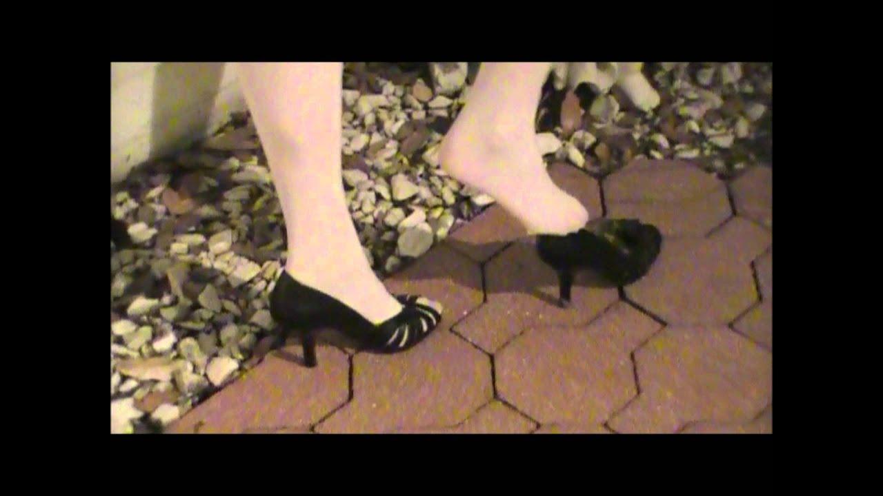 Leg tease stockings heels skirts