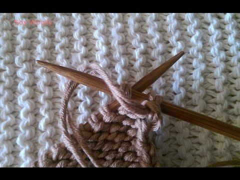 Como hacer una manta con dos agujas youtube - Como hacer mantas de punto ...