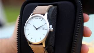 MVMT Watches - White & Tan Leather Watch Review 2014