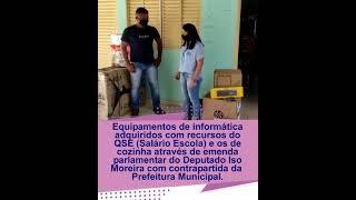 Video SEMED entrega de equipamentos para escolas municipais.