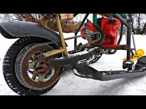 Sleigh and Chainsaw = Snowmobile ! A new Creation