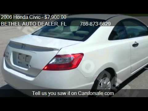 2006 honda civic dx coupe for sale in miami fl 33186 youtube. Black Bedroom Furniture Sets. Home Design Ideas