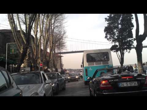 Istanbul shore, sore bottom bridge