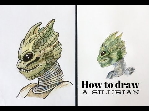 How to draw a silurian from Doctor Who