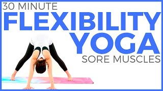 30 minute Full Body Yoga Stretches for Flexibility & Sore Muscles   Sarah Beth Yoga