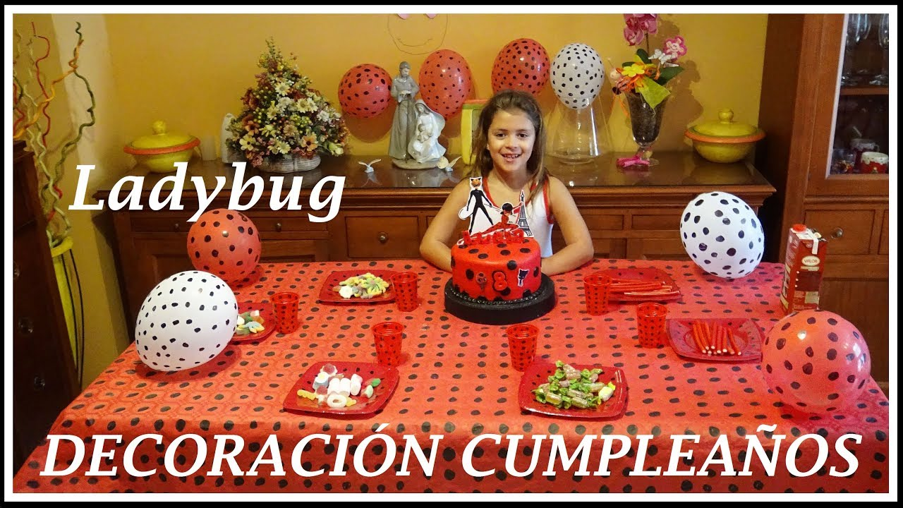 Decoracion ladybug para cumplea os celebra tu cumplea os for Ideas decoracion cumpleanos
