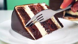 Шоколадный торт с двумя простыми муссами | Chocolate mousse cake
