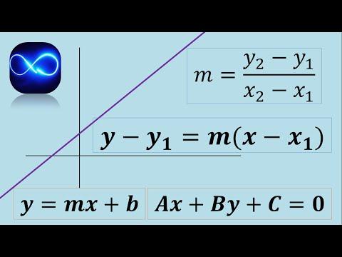 Ecuación de una recta que pasa por dos puntos (Ordinaria, general, punto pendiente)