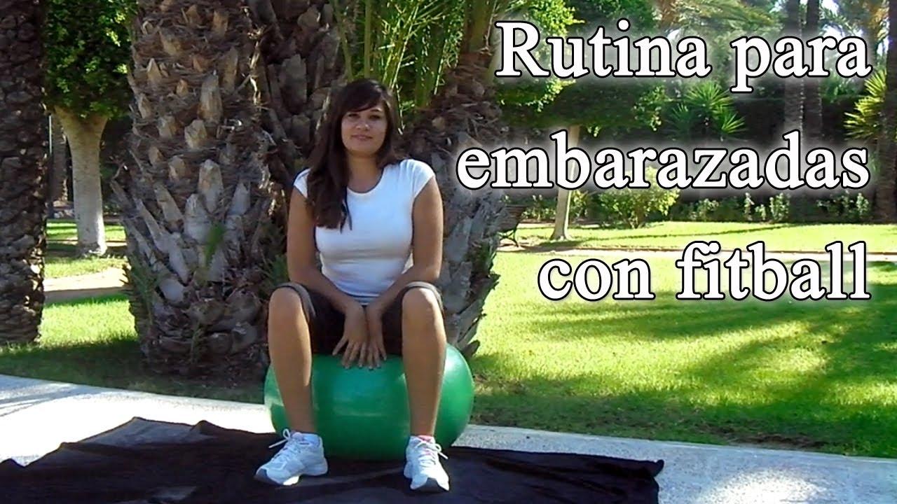 Ejercicios bola pilates embarazo