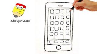 Emojis Whatsapp: Cómo dibujar un Teléfono móvil (celular iphone) | Dibujos de emoticones a lápiz