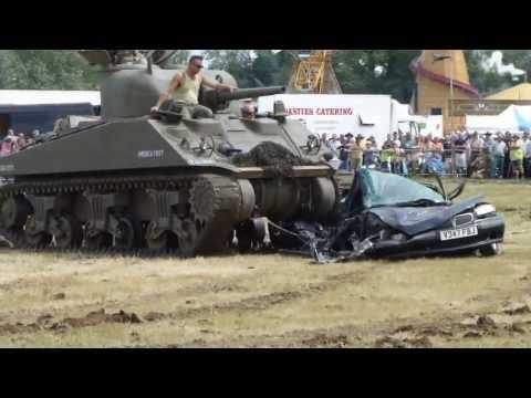 M4A4 Sherman Car Crushing