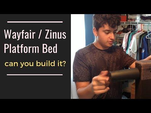 embarrassing-funny-diy-platform-bed-frame-review-assembly---wayfair-/-zinus