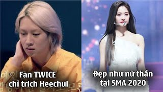 Fan TWICE chỉ trích Heechul vì nói đến MOMO trên sóng truyền hình,Tzuyu đẹp như nữ thần tại SMA 2020
