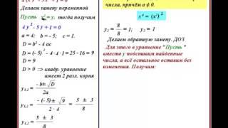 Биквадратное уравнение  Как решить биквадратное уравнение