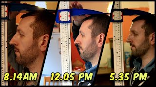 height shrinkage loss during the day