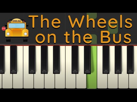 Easy Piano Tutorial: The Wheels on the Bus with free sheet music