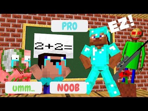 download Monster School: NOOB VS PRO VS MOBS CHALLENGE - Minecraft Animation
