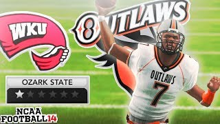 Can The Worst QB in NCAA 14 Win a Game? Ozark State Outlaws NCAA 14 Team Builder Dynasty Ep. 7
