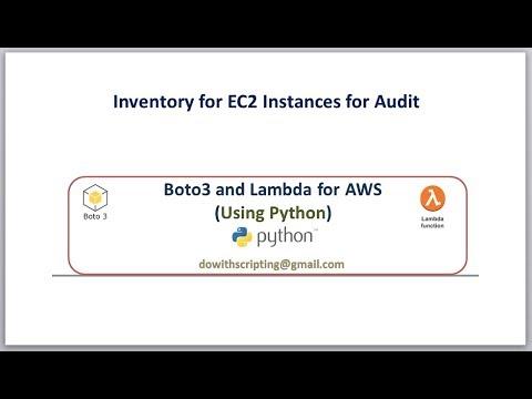 EC2 Instances Inventory script with python boto3