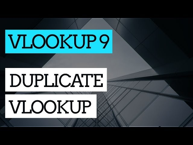 How to Do a VLOOKUP in Excel #9 : Duplicate VLOOKUP