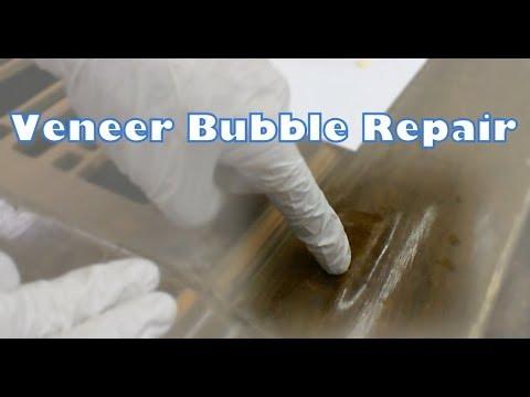 DIY Furniture Repair  Veneer Bubble Repair  YouTube