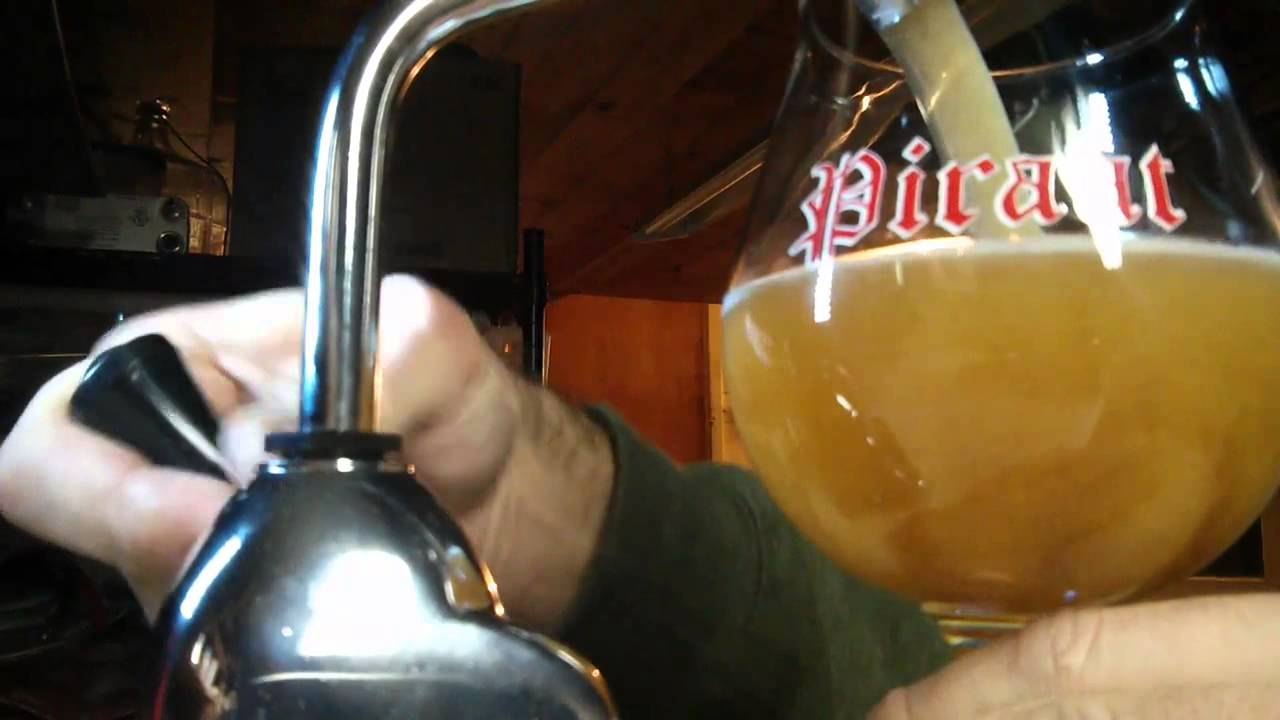 Draught Pale Ale from a Rocket hand pump - YouTube