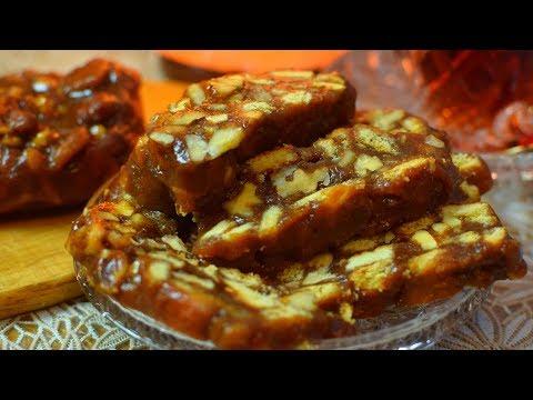 Чайная/Шоколадная Колбаска (Очень вкусный десерт за 10 минут) в НОВОМУ ГОДУ!  Мамины рецепты
