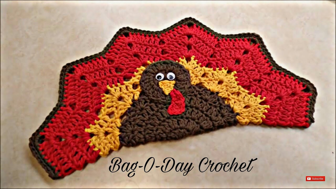 Crochet How To Crochet Easy Turkey Placemat Or Decoration Potholder