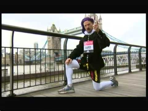 London Marathon - Costume & Shakespearean runners - BBC London News - 22nd April 2016