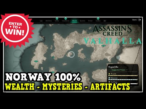Assassin's Creed Valhalla Norway All Collectibles (Wealth, Mysteries, Artifacts)