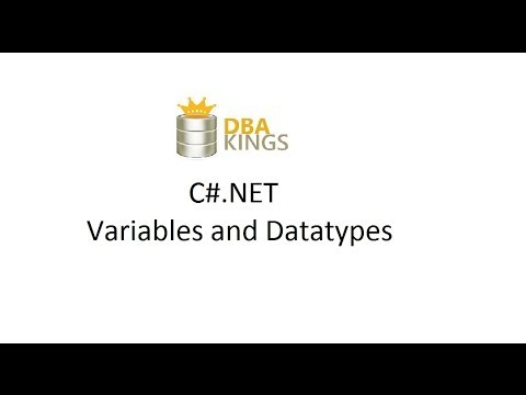 C# Video 3 - Variables datatypes - int string long double char string float object