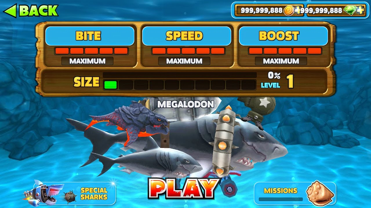 <b>Hungry shark</b> evolution hack 2017 | unlimited coins+gems 100 ...